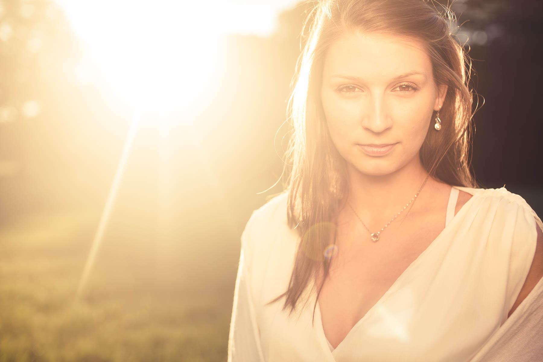 Fotoshooting im Freien - Abendsonne