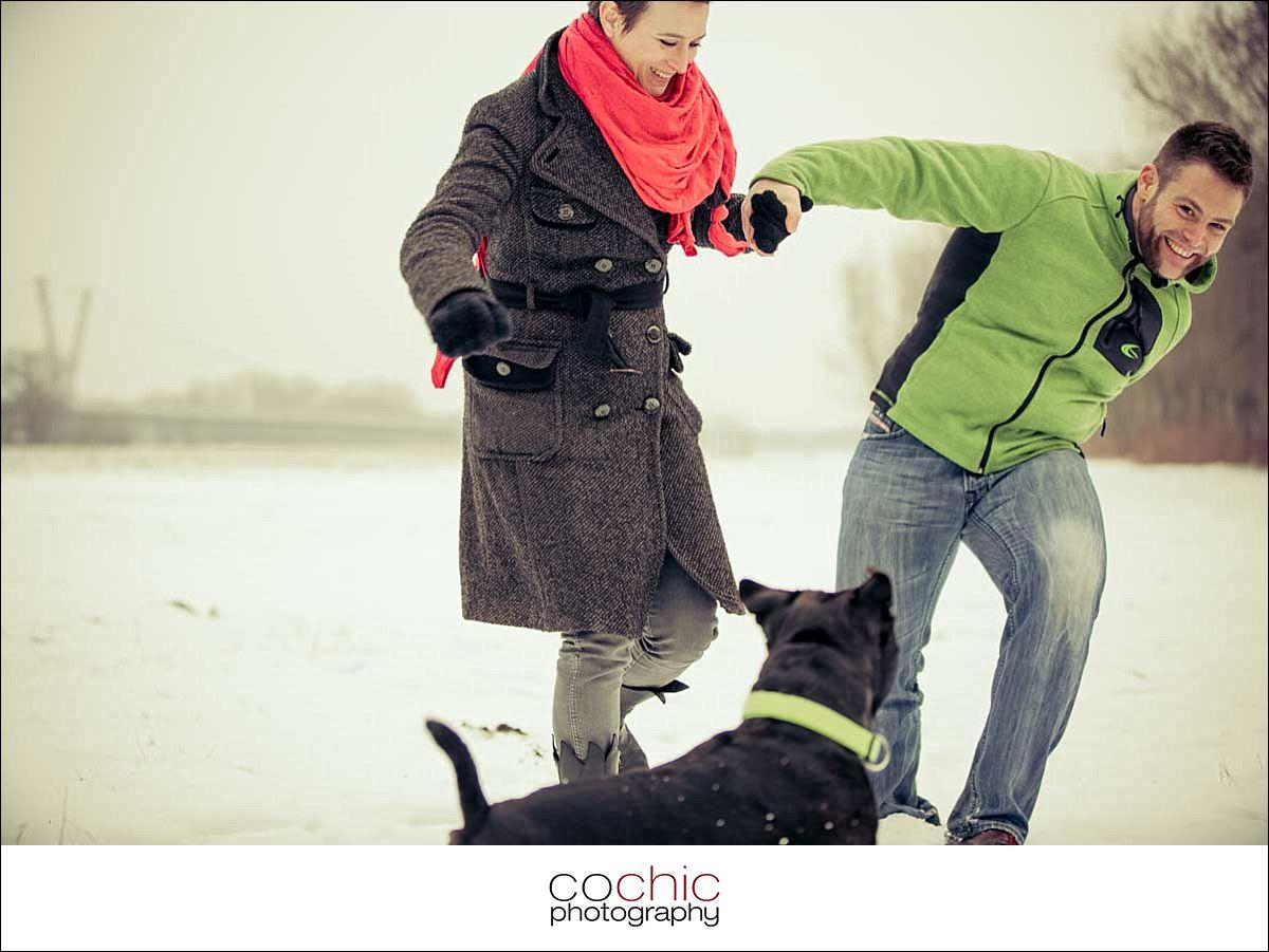 Paarshooting Wien Schnee Cochic Photography
